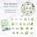 Cape Jasmine Vintage Box Stickers