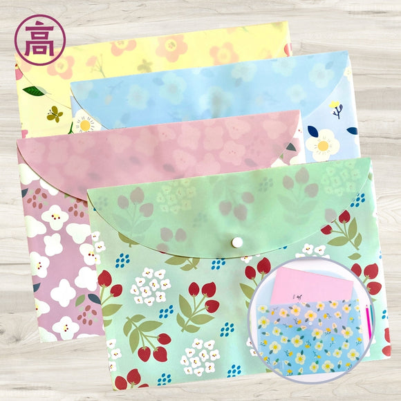 Flower Pattern File Bags