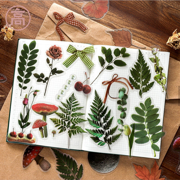 Nature Style Retro PVC Stickers