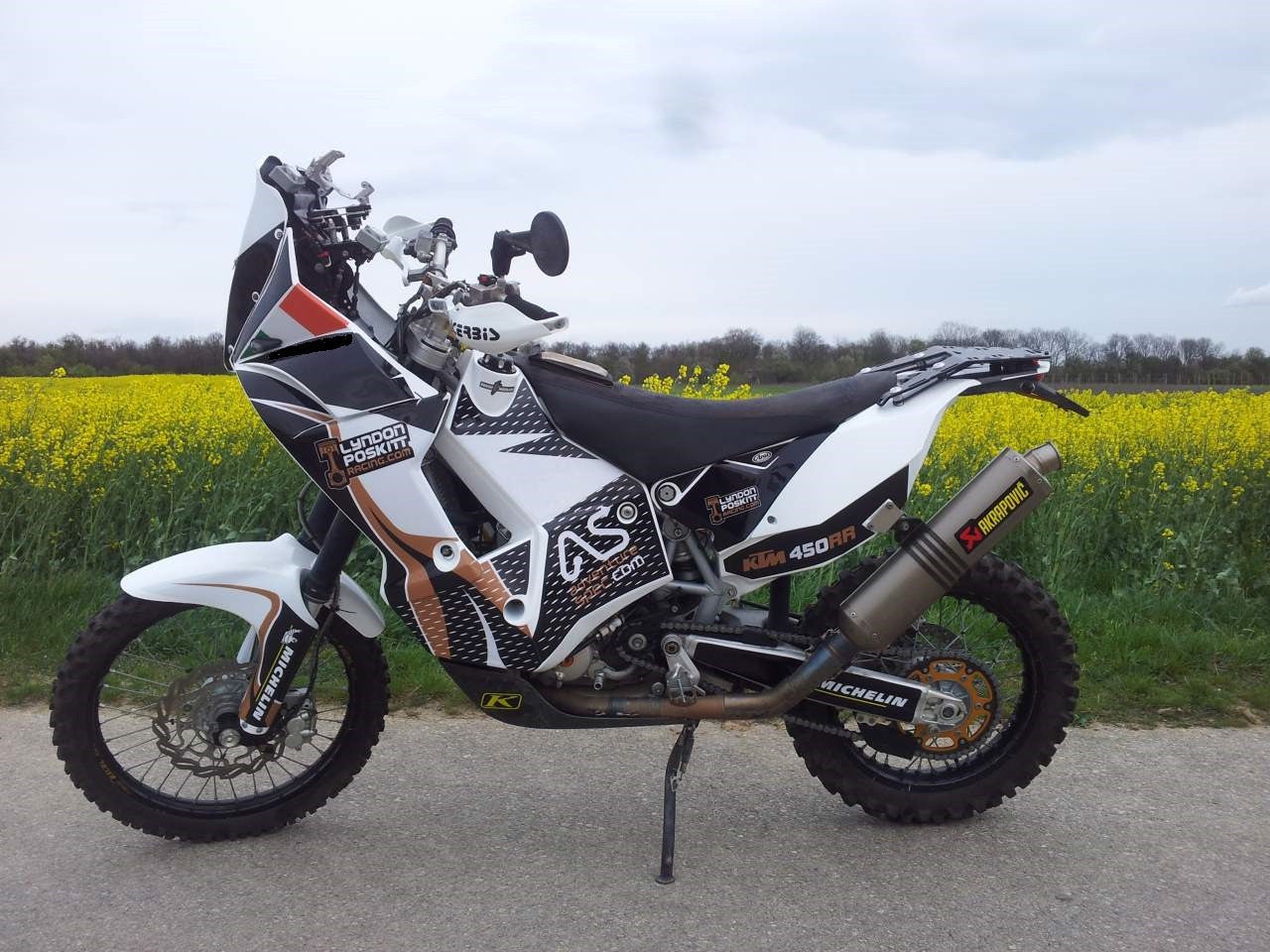 Perun moto Luggage rack SD on KTM 450 Rally Replica