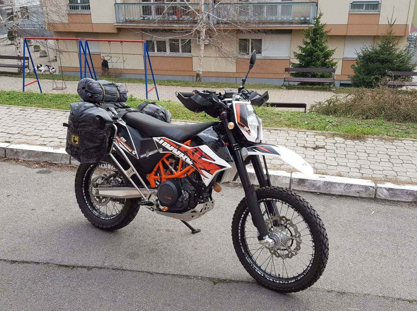 KTM 690 Enduro set up for camping trip - Part I - Wolfman
