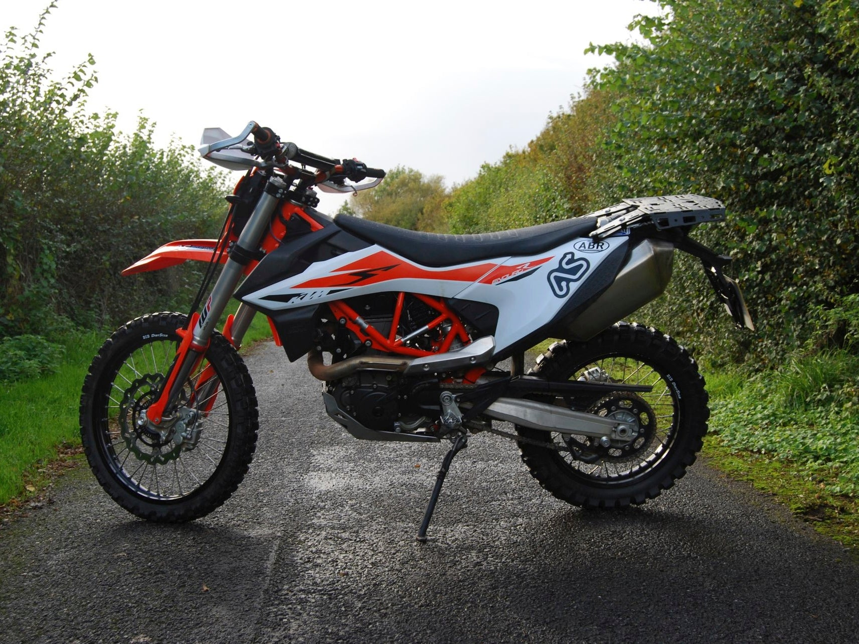 Perun moto rack on Adventure bike rider Magazine's 2019 KTM 690 Enduro R