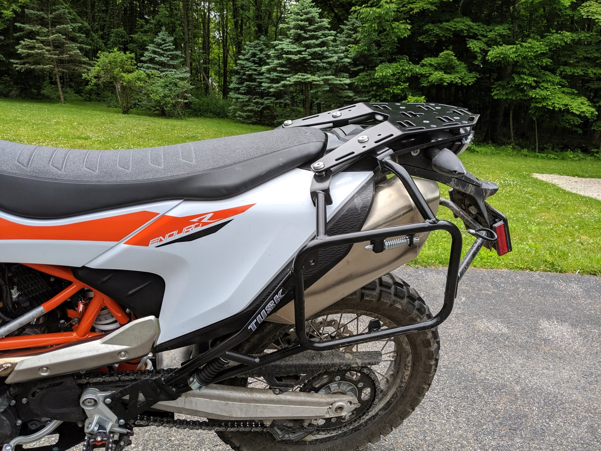 Luggage rack and Tusk pannier racks for 2019 KTM 690 Enduro