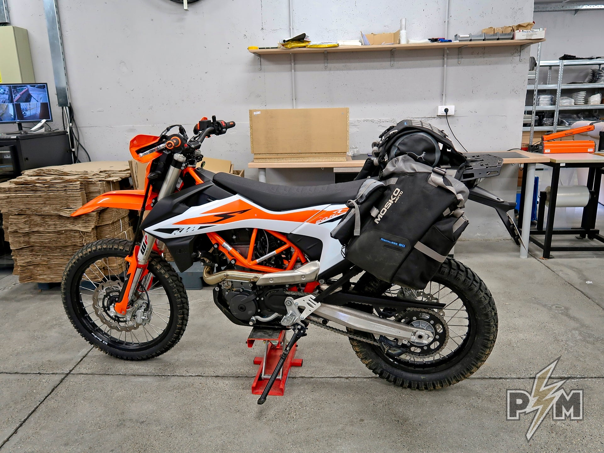 Mosko moto Reckless 80 and Extension plate for 2019 KTM 690 Enduro