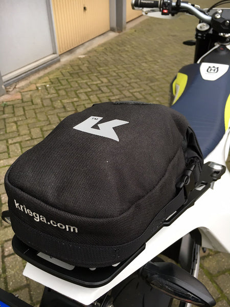 Husqvarna 701 Luggage rack and Kriega Rally pack