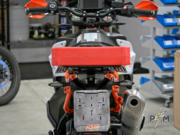 Rotopax 1 gallon fuel canister and Perun moto 790/890/1X90 Top luggage rack + Subplate - 4