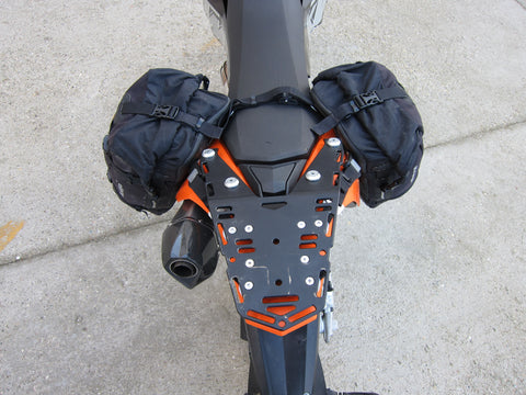 Perun moto KTM 690 Enduro Luggage rack SD and Kriega Overlander-30