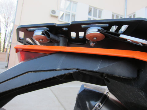 Kreiga rack loops on Perun moto KTM 690 Enduro Luggage rack SD