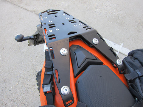 Perun moto KTM 690 Enduro Luggage rack and Kriega Overlander-30