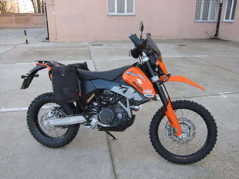 Perun moto KTM 690 Enduro Heel guards and Luggage rack SD and Kriega Overlander-30