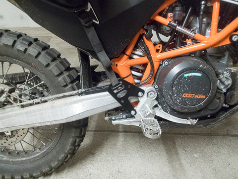 GL Coyote and Perun moto Heel Guards on KTM 690 Enduro - 2