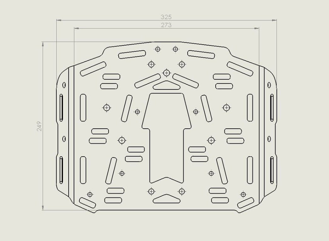 Extension plate for KTM 690 Enduro Luggage rack SD (2008