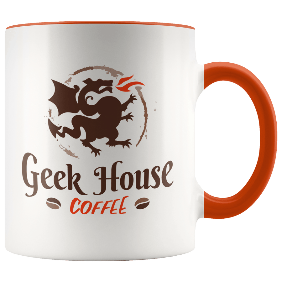 Geek House Coffee 11oz Accent Mug - Geek House Coffee
