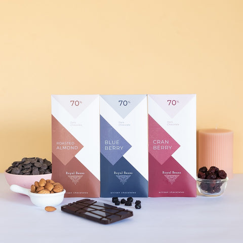 Artisan 70% Dark Chocolate Bar Combo (Pack of 3) - Buy 1 Get 1