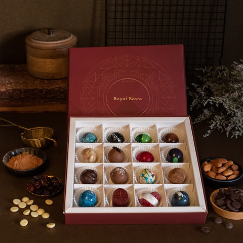 Assorted Chocolate Bonbons & Truffles (Box of 16) - Buy 1 Get 1