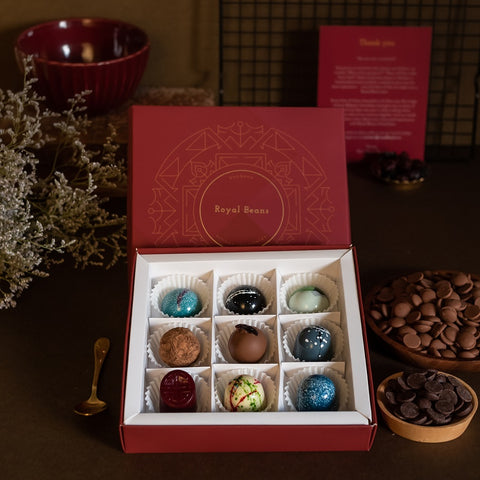 Assorted Chocolate Bonbons & Truffles (Box of 9) - Buy 1 Get 1