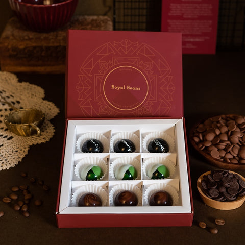 Box of 3 Artisanal Chocolate Bonbons (9 Pieces)- Gift Collection 6