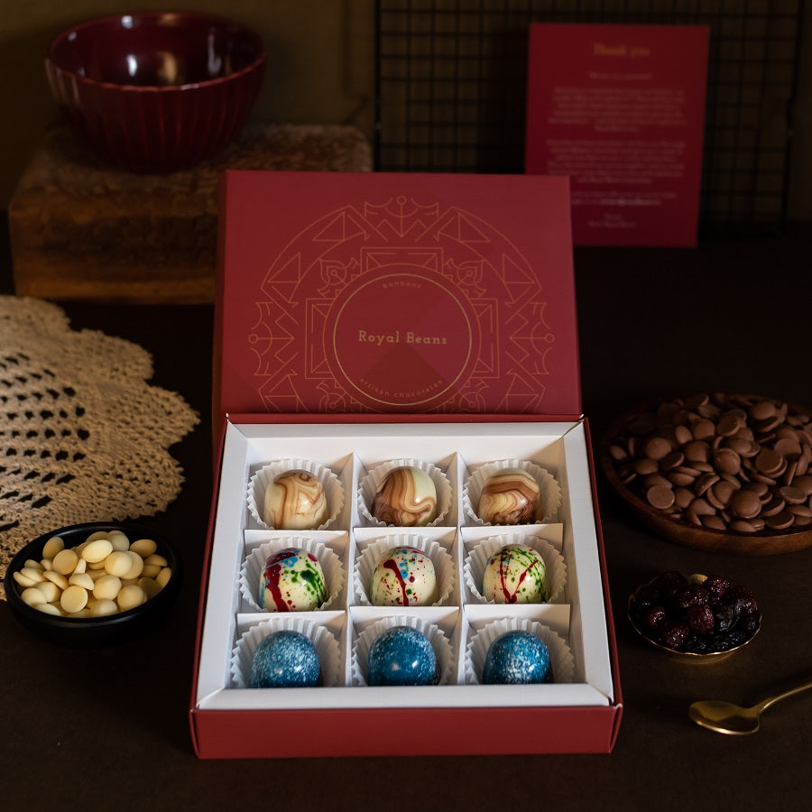 Box of 3 Artisanal Chocolate Bonbons (9 Pieces) - Gift Collection 5
