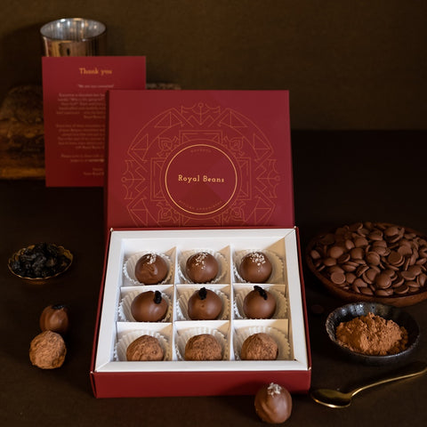 Box of 3 Artisanal Chocolate Truffles (9 Pieces)- Gift Collection 4