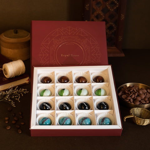 Box of 4 Artisanal Chocolate Bonbons (16 Pieces) – Gift Collection 1