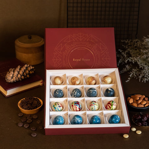 Box of 4 Artisanal Chocolate Bonbons (16 Pieces) - Gift Collection 2