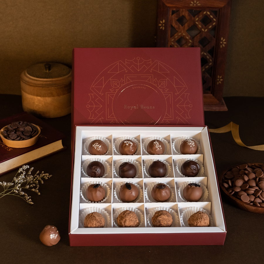 Box of 4 Artisanal Chocolate Truffles (16 Pieces) - Gift Collection 3