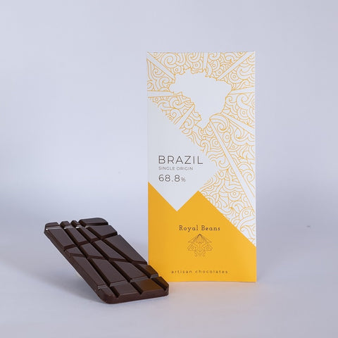 Brazil (66.8%) – Single Origin Chocolate Bar