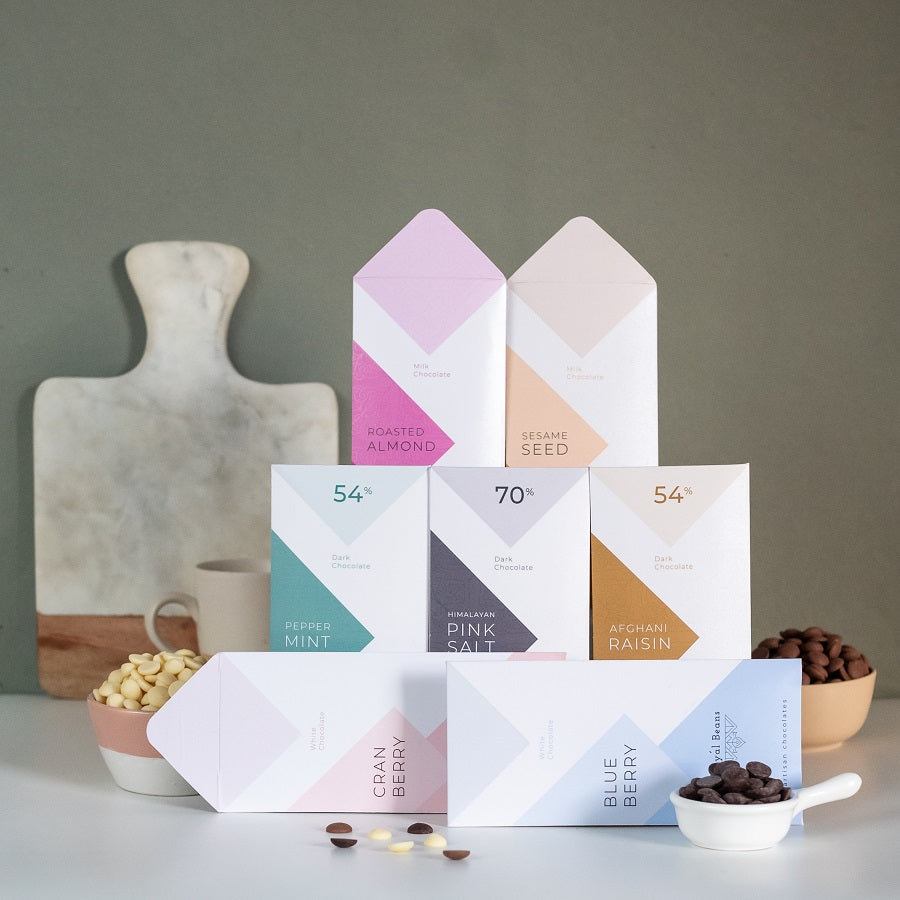 Valentine's Day Special -  Pack of 7 Artisan Chocolate Bars
