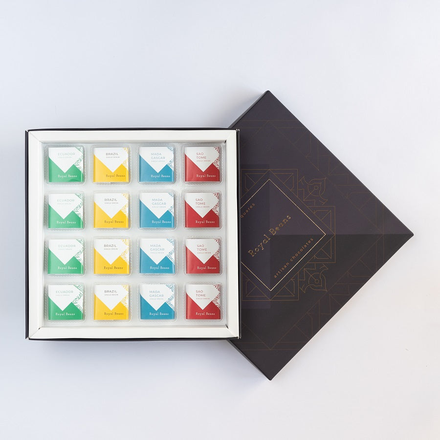 Chocolate Squares - Assorted Solid - Single Origin Chocolates (Box of 16) - Buy 1 Get 1