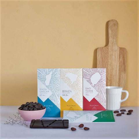 Celebration Pack - Single Origin Artisanal Dark Chocolate Bars (Pack of 4)