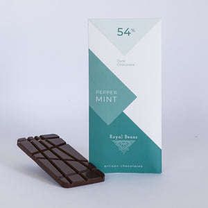Peppermint & 54% Dark Chocolate Bar