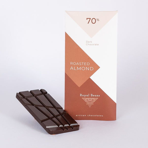 Roasted Almond & 70% Dark Chocolate Bar
