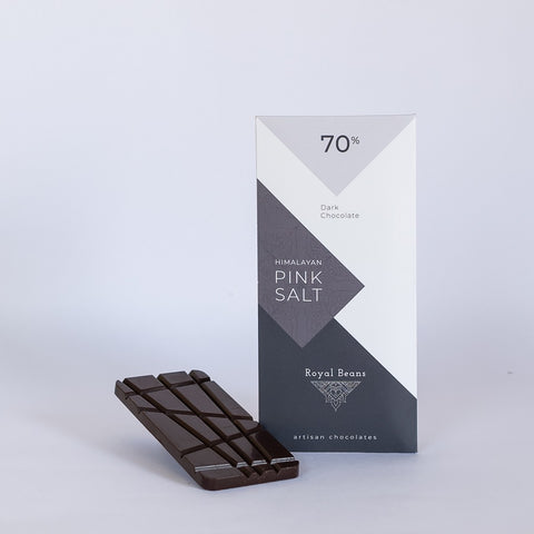 Himalayan Pink Salt & 70% Dark Chocolate Bar