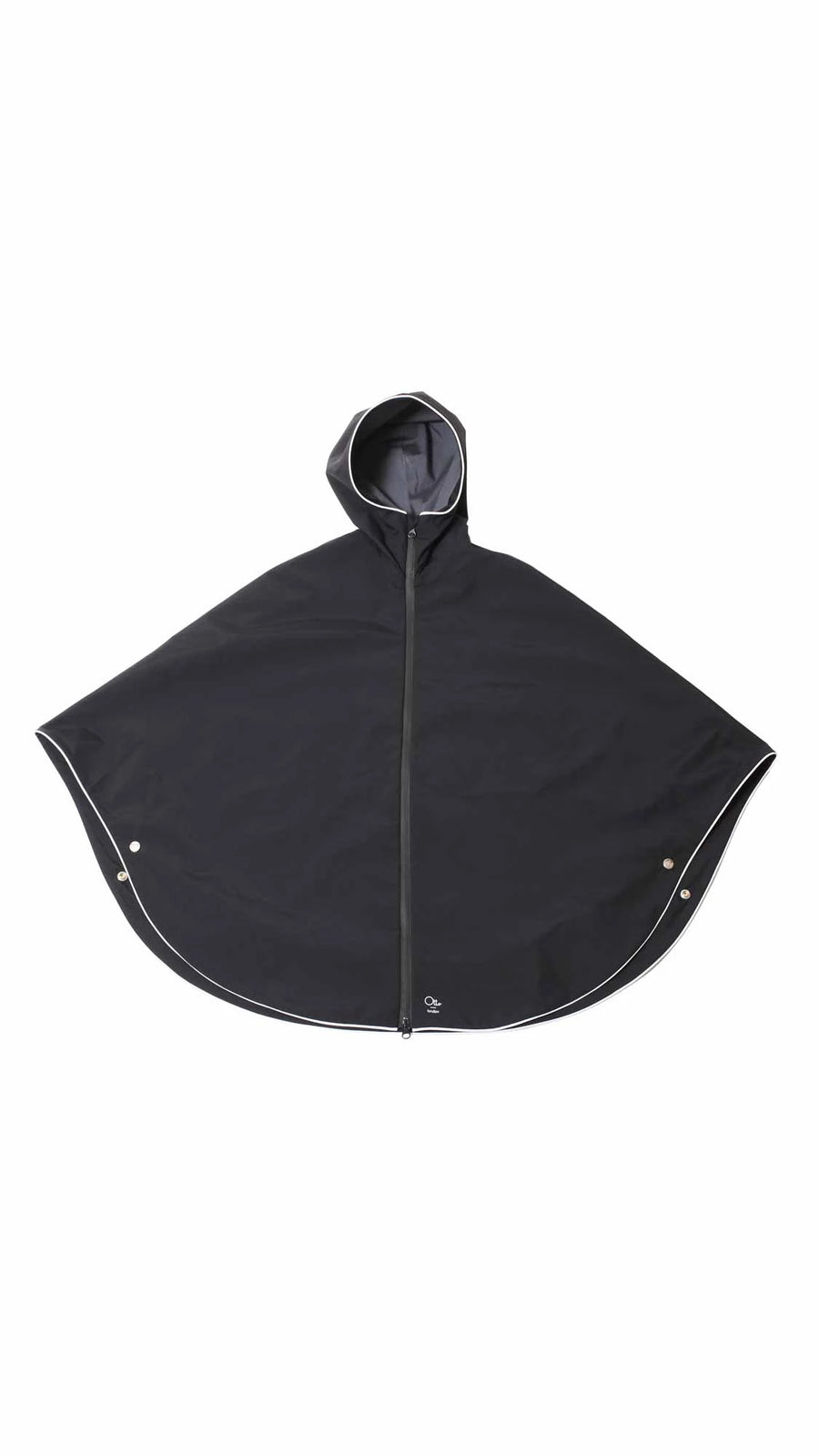 CYCLING RAIN CAPE - MATT BLACK PONCHO