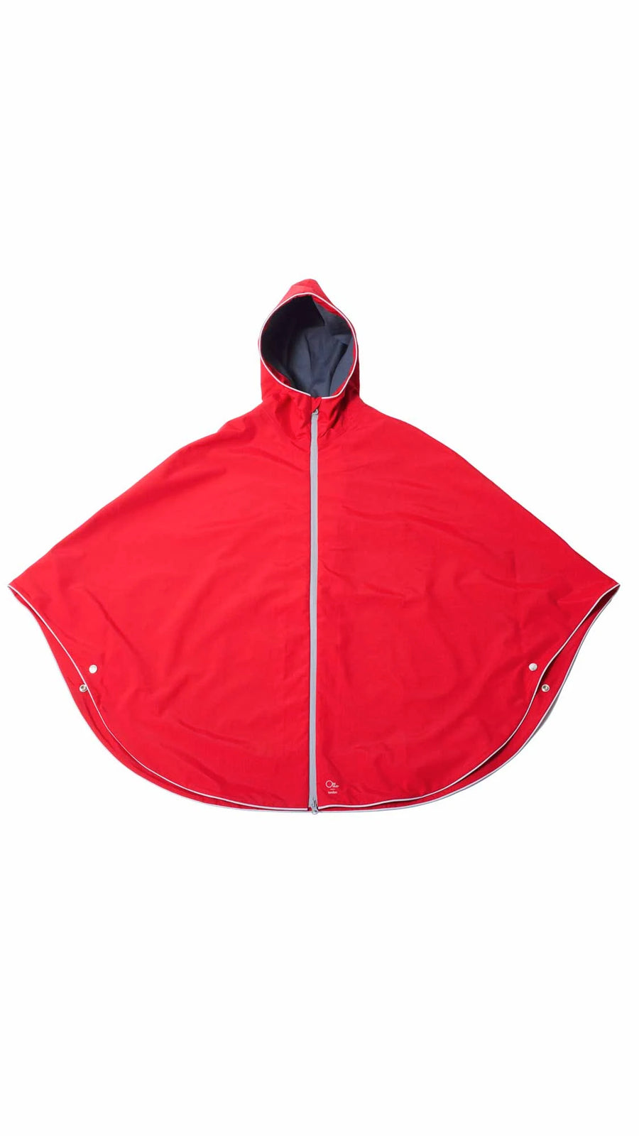 CYCLING RAIN CAPE - BRIGHT RED PONCHO