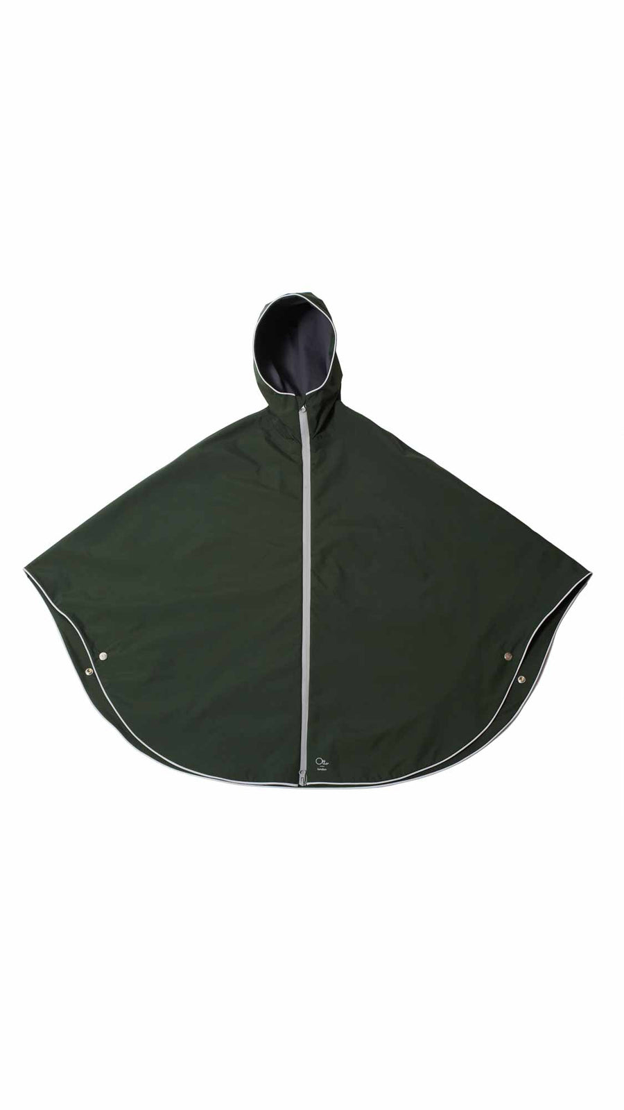 Cycling rain cape - Kombu Green Poncho