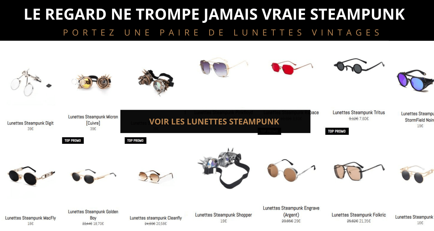 LUNETTES STEAMPUNK COLLECTION