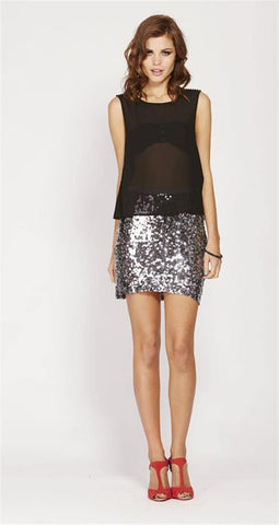 Dusk Sequin Skirt - MOSS Clothing