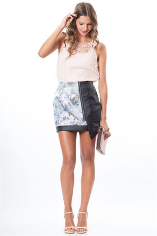 Floral Rider Skirt - MOSS Clothing