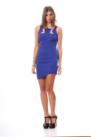 Galatica Dress (Cobalt) - MOSS Clothing