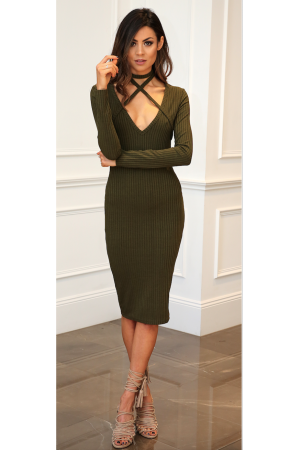 Wrap Me Up Knit Dress - MOSS
