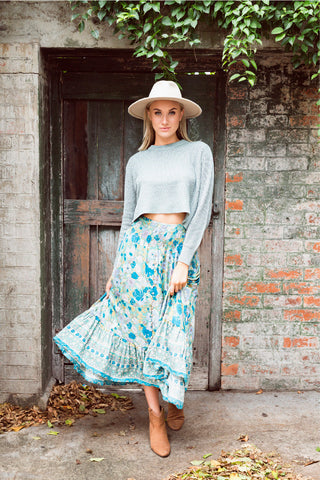 High Tea Skirt - MOSS
