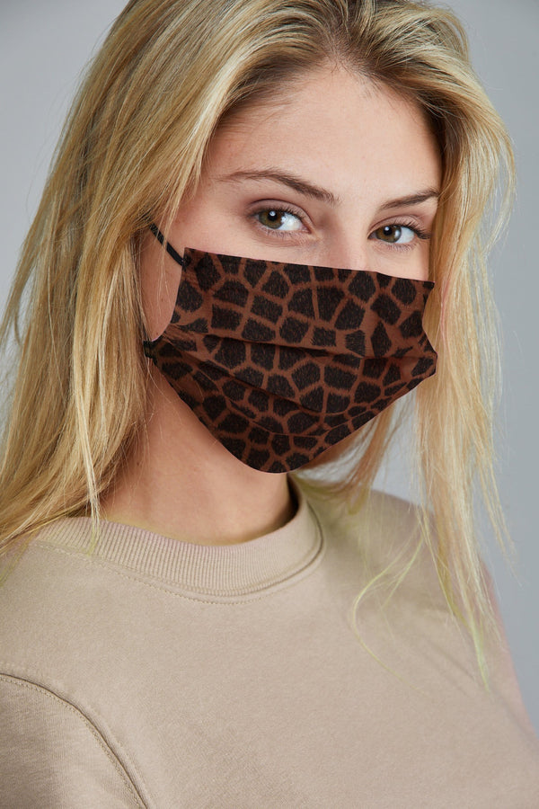 Variety Animal Print Face Masks - 10 Pack