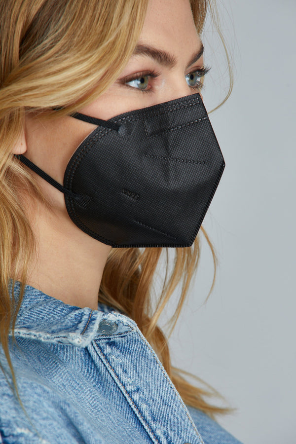 Black KN95 Face Masks - 25 Pack