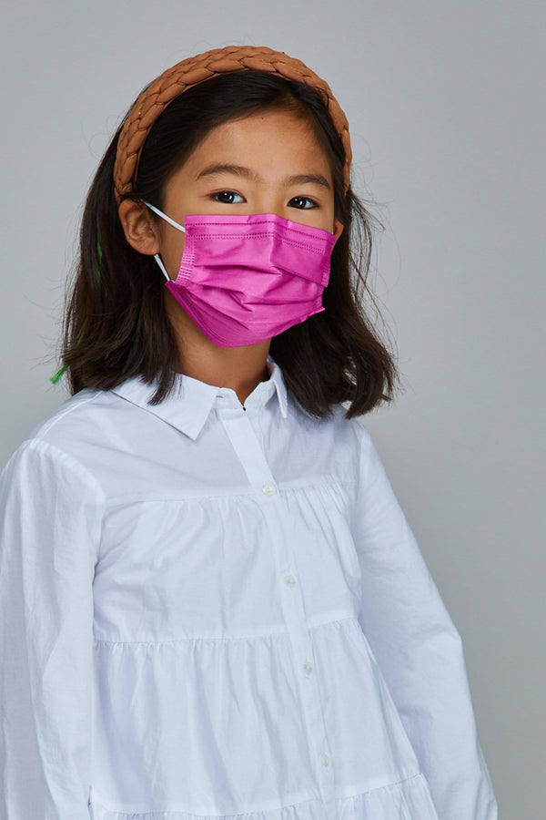 Kids - Magenta Face Masks - 10 Pack