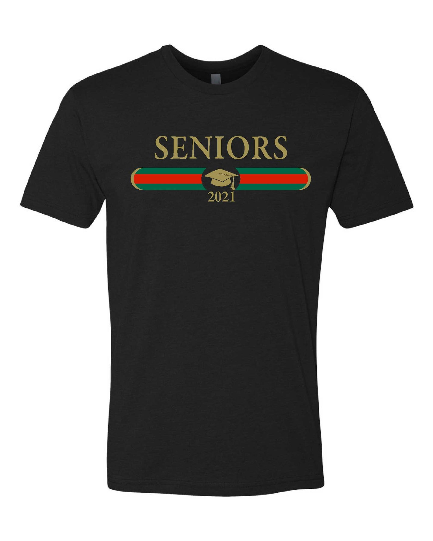 Seniors Black Soft Cotton/Blend Crew