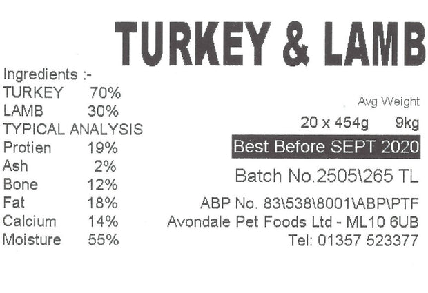 JUST NATURAL TURKEY & LAMB COMPLETE, SINGLE , 454g