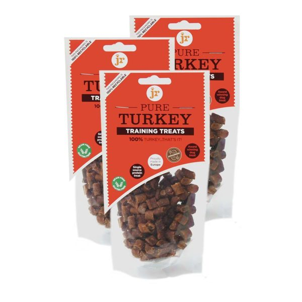 JR PET PRODUCTS TURKEY TRAINING TREATS, 85g