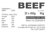 JUST NATURAL PRIME BEEF, SINGLE,  454g