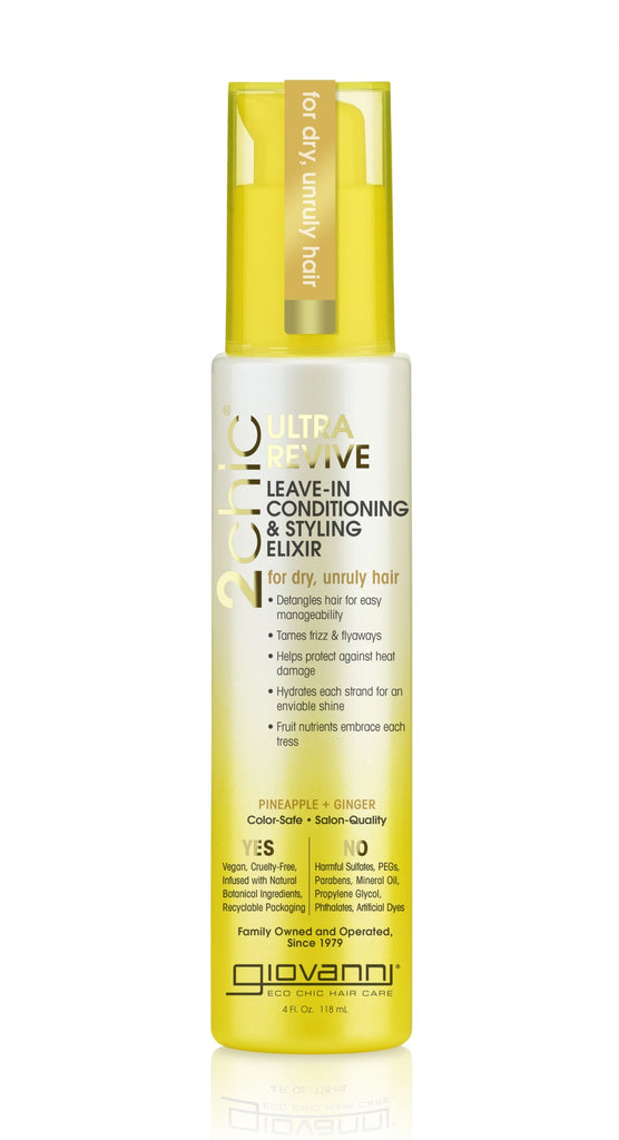 Giovanni Cosmetics - 2chic®  - Ultra-Revive Leave-In Conditioning & Styling Elixir with Pineapple & Ginger 118 ml
